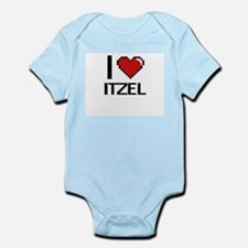I Love Itzel Digital Retro Design Body Suit