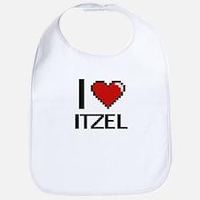 I Love Itzel Digital Retro Design Bib