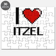 I Love Itzel Digital Retro Design Puzzle