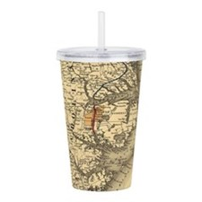 Vintage Map of The Nor Acrylic Double-wall Tumbler