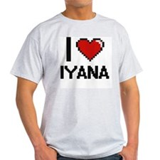 I Love Iyana Digital Retro Design T-Shirt