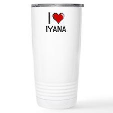 I Love Iyana Digital Re Travel Mug