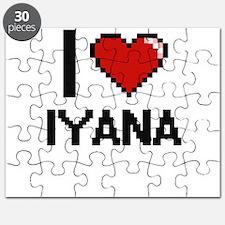 I Love Iyana Digital Retro Design Puzzle