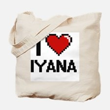 I Love Iyana Digital Retro Design Tote Bag