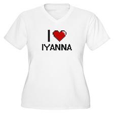 I Love Iyanna Digital Retro Desi Plus Size T-Shirt