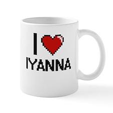 I Love Iyanna Digital Retro Design Mugs