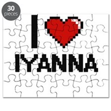 I Love Iyanna Digital Retro Design Puzzle