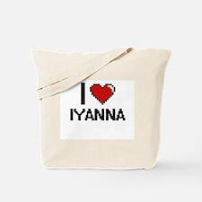 I Love Iyanna Digital Retro Design Tote Bag