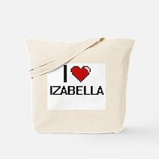 I Love Izabella Digital Retro Design Tote Bag