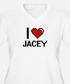 I Love Jacey Digital Retro Desig Plus Size T-Shirt