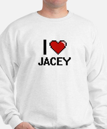I Love Jacey Digital Retro Design Sweater