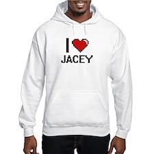 I Love Jacey Digital Retro Desig Hoodie Sweatshirt