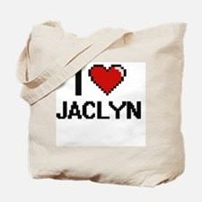 I Love Jaclyn Digital Retro Design Tote Bag