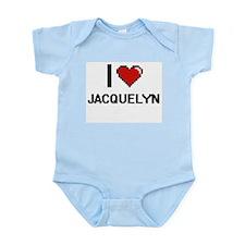 I Love Jacquelyn Digital Retro Design Body Suit