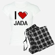 I Love Jada Digital Retro D Pajamas