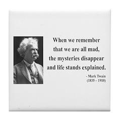 Mark Twain 14 Tile Coaster