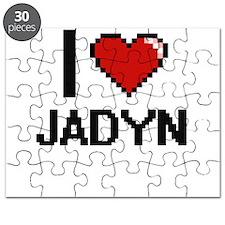 I Love Jadyn Digital Retro Design Puzzle