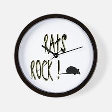 Rats Rock ! Wall Clock