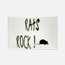 Rats Rock ! Rectangle Magnet