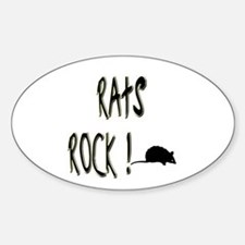 Rats Rock ! Oval Decal