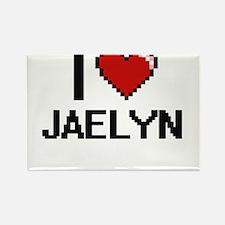 I Love Jaelyn Digital Retro Design Magnets