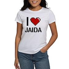 I Love Jaida Digital Retro Design T-Shirt