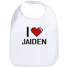 I Love Jaiden Digital Retro Design Bib