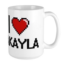 I Love Jakayla Digital Retro Design Mugs