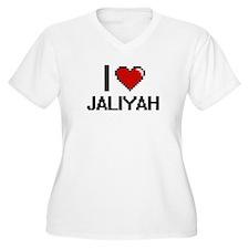 I Love Jaliyah Digital Retro Des Plus Size T-Shirt