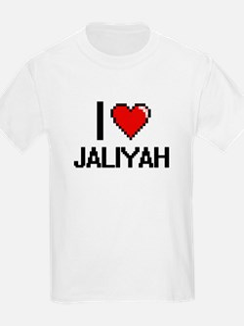 I Love Jaliyah Digital Retro Design T-Shirt