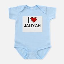 I Love Jaliyah Digital Retro Design Body Suit