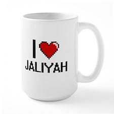 I Love Jaliyah Digital Retro Design Mugs