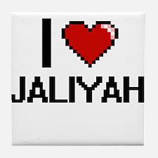 I Love Jaliyah Digital Retro Design Tile Coaster