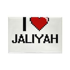 I Love Jaliyah Digital Retro Design Magnets