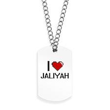 I Love Jaliyah Digital Retro Design Dog Tags