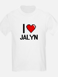 I Love Jalyn Digital Retro Design T-Shirt