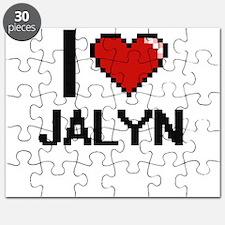 I Love Jalyn Digital Retro Design Puzzle