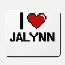 I Love Jalynn Digital Retro Design Mousepad