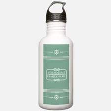 Mint nautical Rope Str Water Bottle