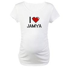 I Love Jamya Digital Retro Desig Shirt