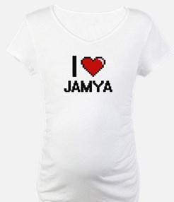 I Love Jamya Digital Retro Desig Shirt
