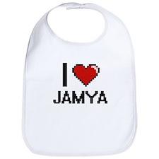 I Love Jamya Digital Retro Design Bib