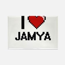 I Love Jamya Digital Retro Design Magnets