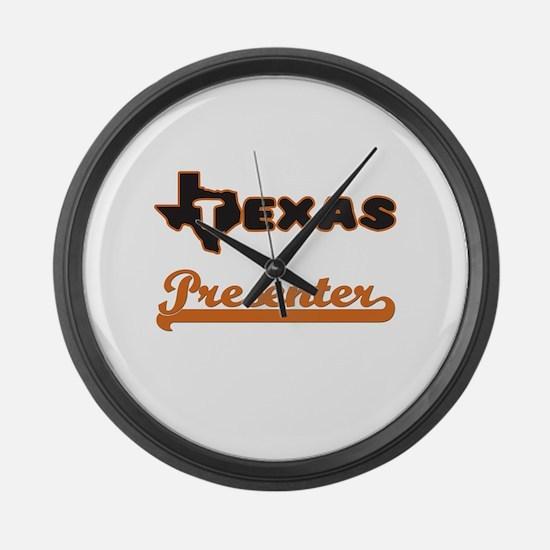 Texas Presenter Large Wall Clock
