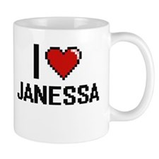 I Love Janessa Digital Retro Design Mugs