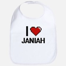 I Love Janiah Digital Retro Design Bib