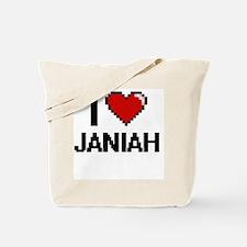 I Love Janiah Digital Retro Design Tote Bag