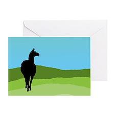 Llama Bue Sky Greeting Cards
