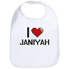 I Love Janiyah Digital Retro Design Bib