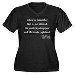 Mark Twain 14 Women's Plus Size V-Neck Dark T-Shir